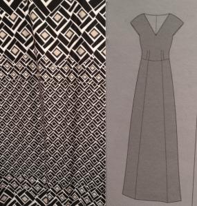 Anna Dress - Border Print Fabric - csews.com