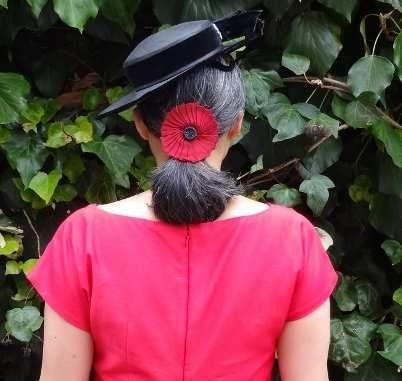 Red Anna Dress - back - By Hand London - csews.com