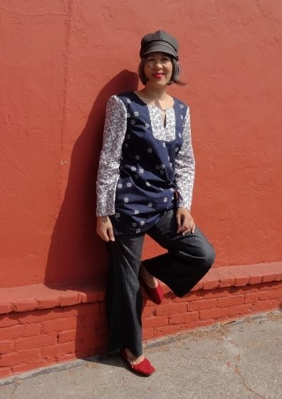 Tunic and red shoes - csews.com
