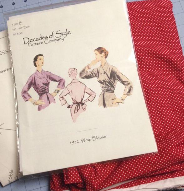 Deacades of Style 1950s Wrap Blouse - csews.com