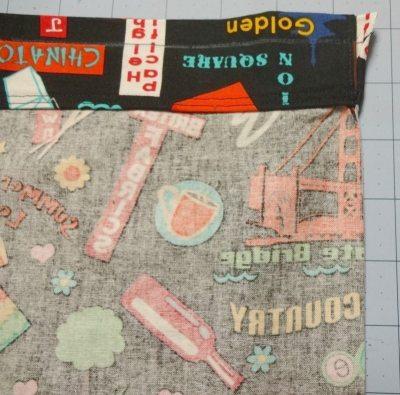 Tutorial: How to make a drawstring bag - Sew second top seam - drawstring bag - csews.com