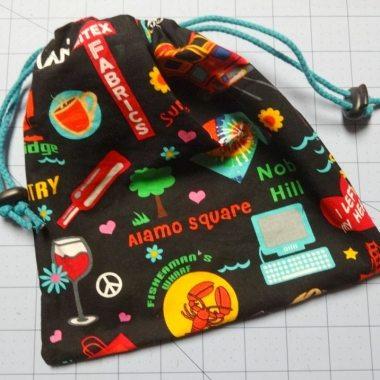 both cords threaded - drawstring bag - csews.com