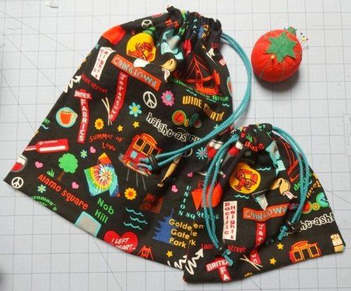 How to make a drawstring bag - single and double drawstring bags - csews.com
