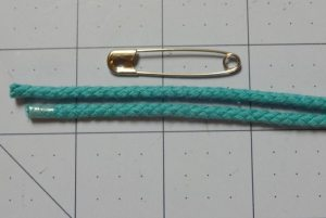 safety pin and cords - drawstring bag - csews.com