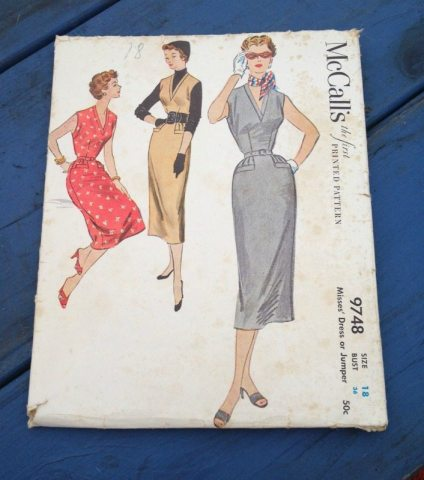 vintage McCalls dress pattern 9748 - csews.com