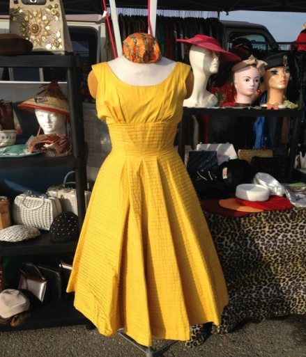vintage yellow pintuck dress - csews.com