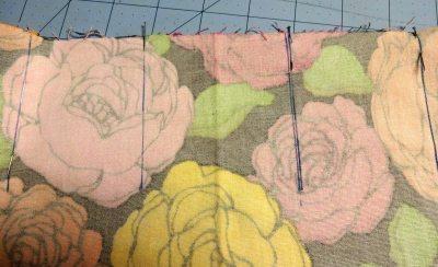Use pins to line up pleats - chardon skirt - csews.com