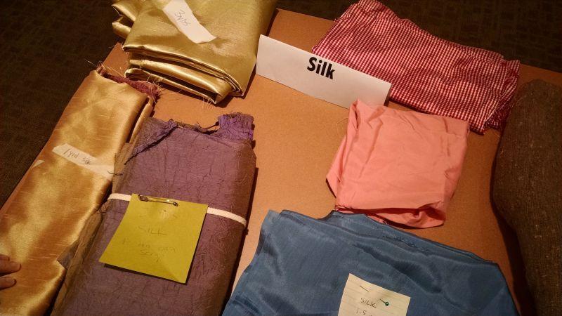silk fabric - Bay Area Sewists - fabric swap