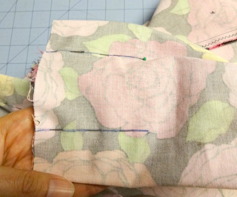 Pleats pinned to sew - chardon skirt - csews.com