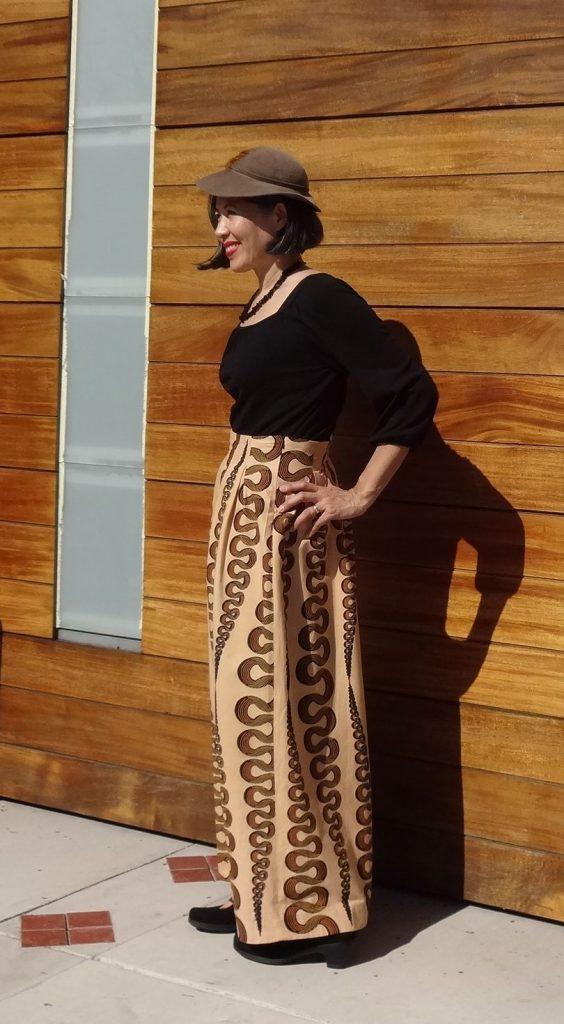 Chardon maxi skirt - left view
