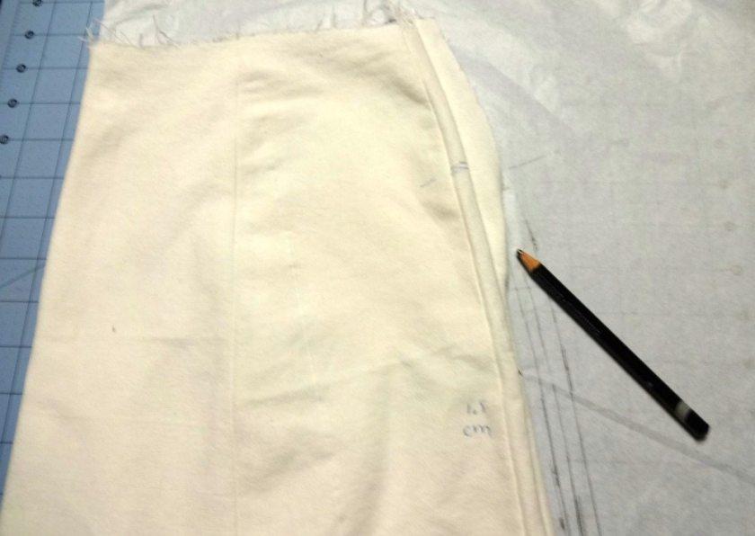 Tracing lining for A-line Block Skirt - Basic Black - csews.com