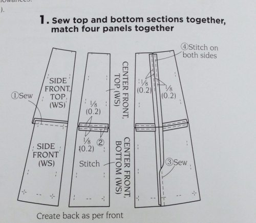 Basic Black - skirt instructions - diagram - csews.com
