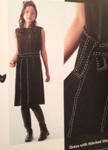 DRess with Stitched skirt - Basic Black- csews.com