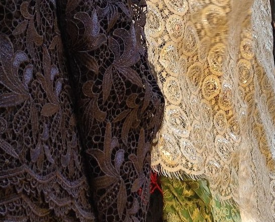 Beautiful lace at Britex Fabrics - csews.com