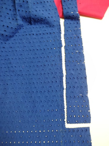 Kick pleat - eyelet fabric - csews.com