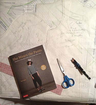 Pattern pieces traced - She Wears the Pants - csews.com