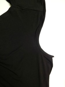 Sleeve binding attached - Draped Mini Dress - She Wears the Pants - csews.com
