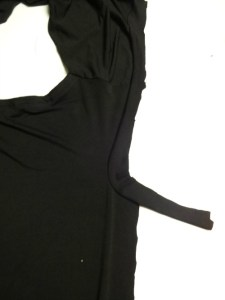 Sleeve binding - Draped Mini Dress - She Wears the Pants - csews.com