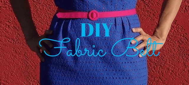 DIY fabric belt - spring for cotton - csews.com