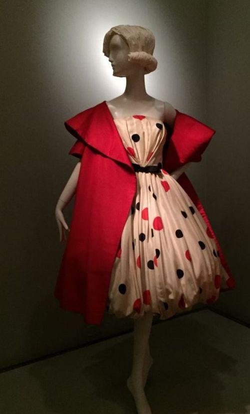 Polka dot dress - Brooklyn Museum costume collection - csews.com