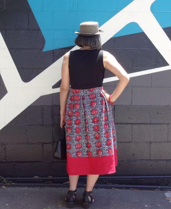 Deer and Doe - Linen Chardon skirt - back view - csews.com