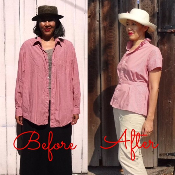 Before-After - front view - Refashion - Get Shirty - csews.com