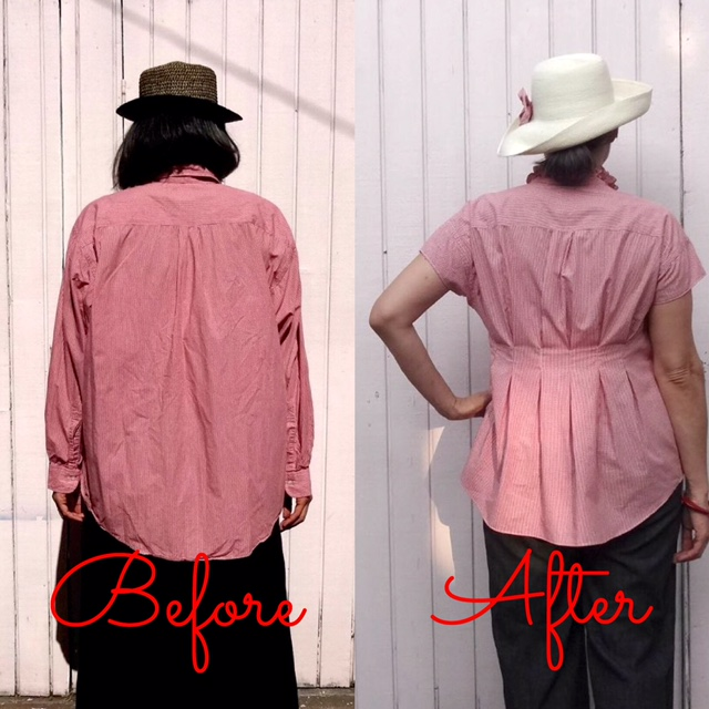 Before-After - back view - Refashion - Get Shirty - csews.com