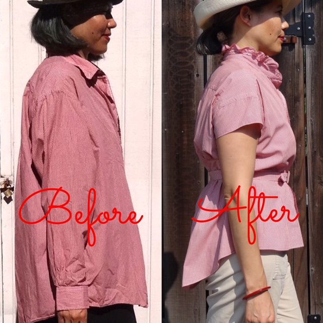 Before-After - side view - Refashion - Get Shirty - csews.com