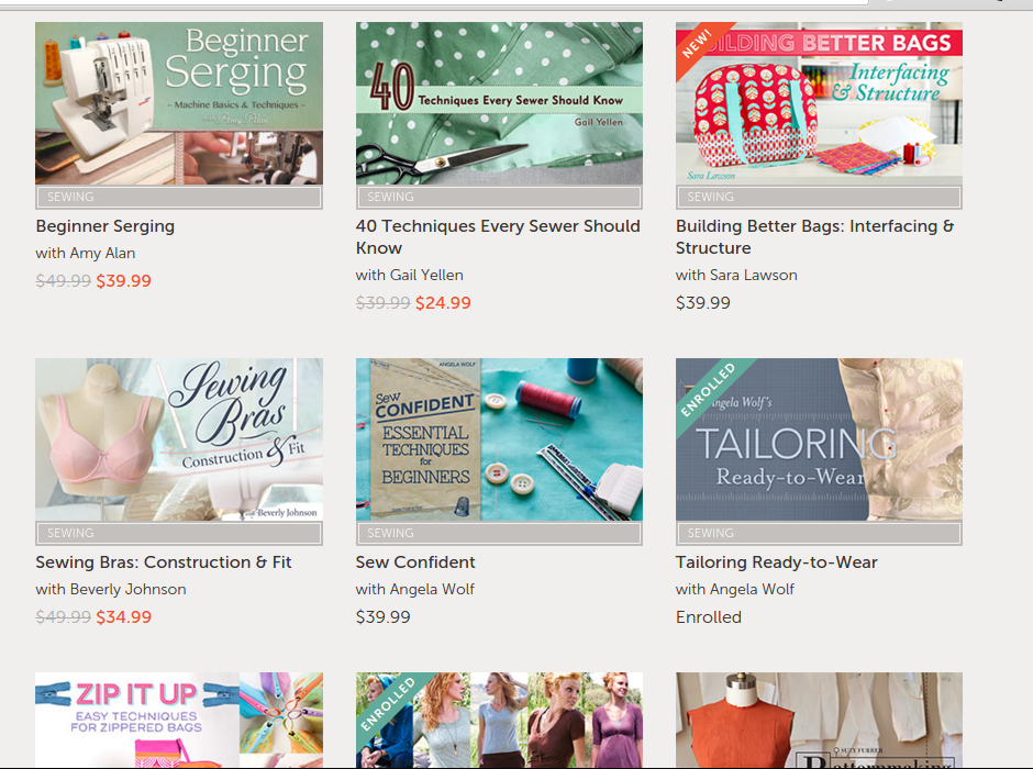 Which Craftsy sewing class should I take?