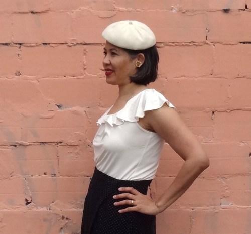 Nita Wrap Skirt and beret - csews.com
