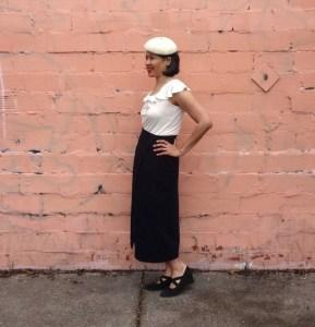 Nita Wrap Skirt - Sew DIY pattern - left view - csews.com