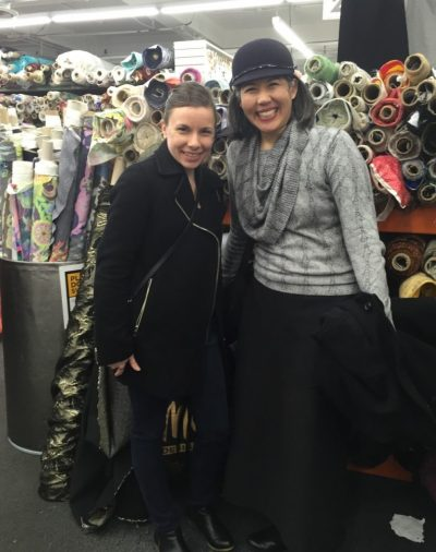 Betsy and Chuleenan at Mood Fabrics - csews.com