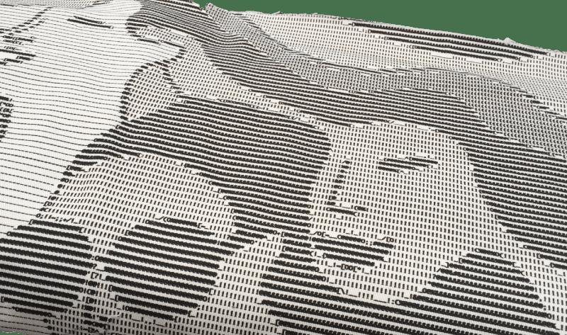 ASCII faces fabric - C Sews