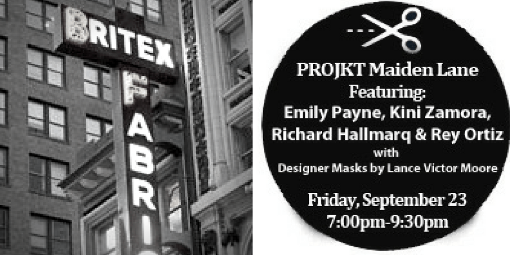 PROJKT Maiden Lane - Britex Fabrics fall fashion show - Sept. 23, 2016, 7 pm to 9 pm