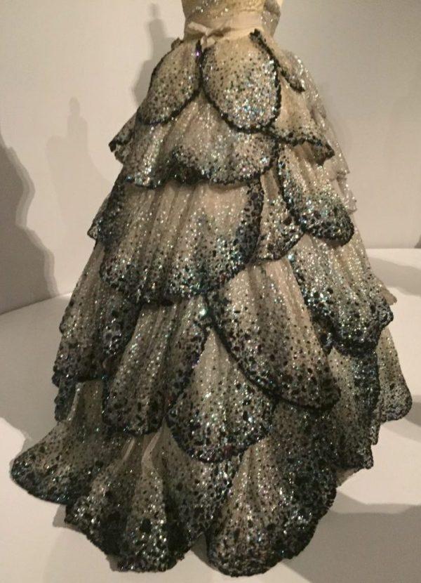 Manus x Machina - Junon Dress - Dior - Fall/Winter 1949-50 - machine-sewn, hand finished silk faille, taffeta, tulle with hand appliquéd petals, sequins