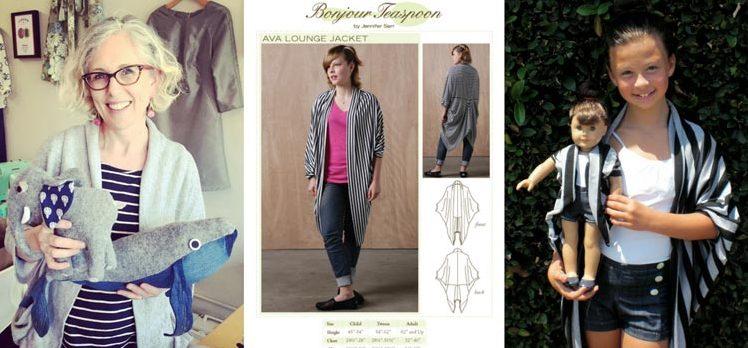 Jennifer Serr, founder of Bonjour Teaspon sewing patterns, owner of The Sewing Room
