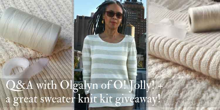 Olgalyn of O! Jolly sweater knit designer