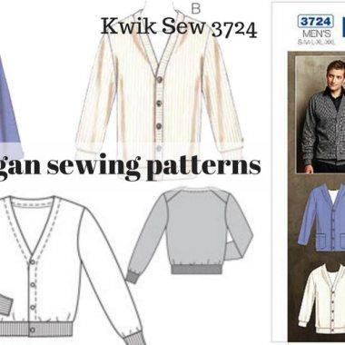 Men's cardigan sewing patterns - Burda, Kwik Sew