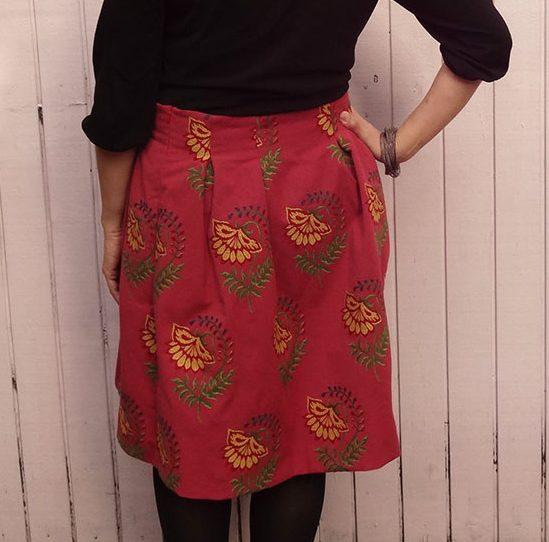 Chardon - adjustable-waist skirt variation- Deer and Doe