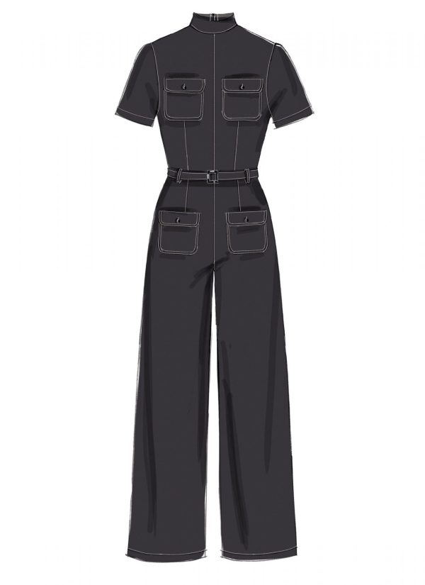 McCalls M7539 - sewing pattern - Misses' Dresses, Romper and Belted Jumpsuit with Collar and Pocket Variations