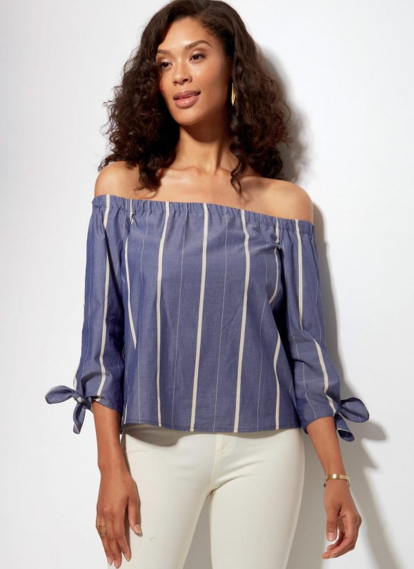 McCalls - M7543 - sewing pattern - Misses' Off-the-Shoulder Tops, Tunic and Dress