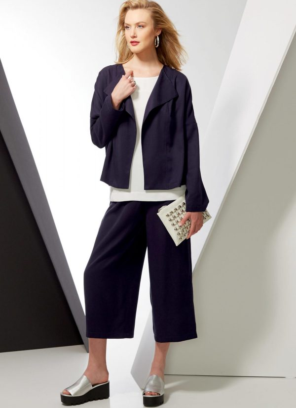 Vogue Patterns - V9246 - sewing pattern - MISSES' DROP-SHOULDER JACKETS, BELT, TOP WITH YOKES, AND PULL-ON PANTS