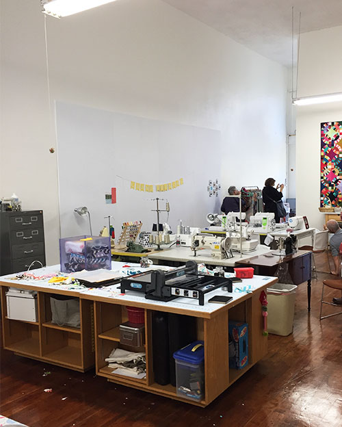 Hello Stitch sewing studio interior