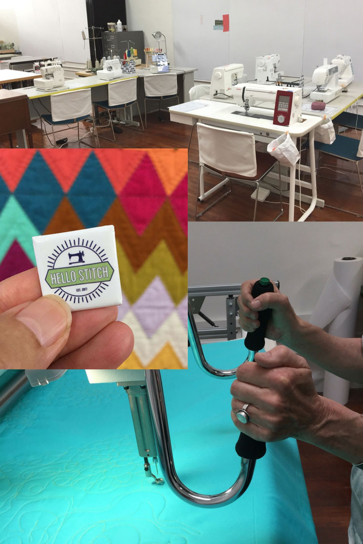 Hello Stitch sewing studio in Berkeley has a long-arm quilter, sewing machines and sergers