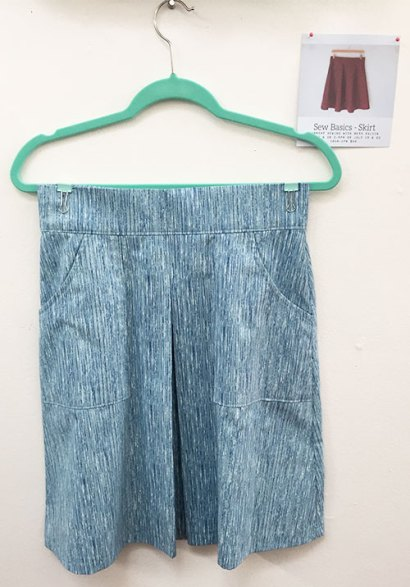 Sew basics - skirt class at Hello Stitch taught by Beth Galvin