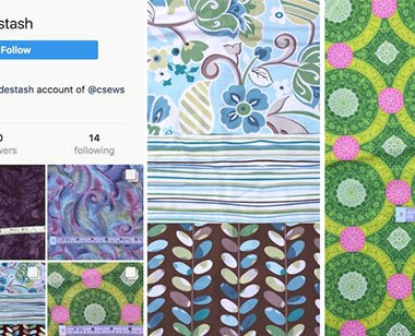 Destashing fabric on Facebook and Instagram - csews.com