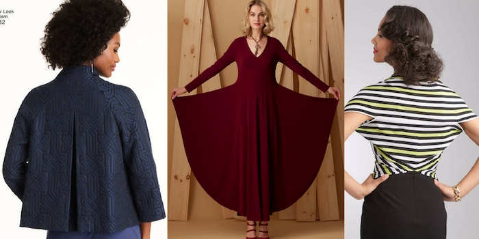 Simplicity, Vogue, New Look sewing patterns for fall