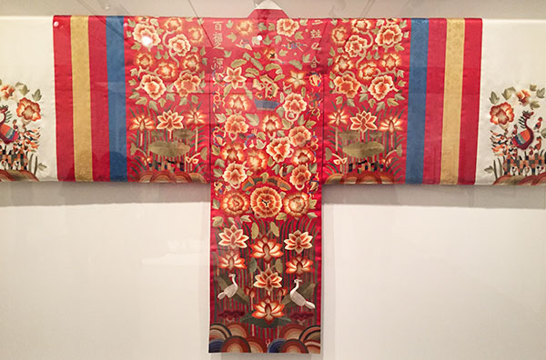 Bridal robe - reconstruction based on Joseon dynasty garment - Couture Korea, fashion exhibit at the Asian Art Museum - CSews