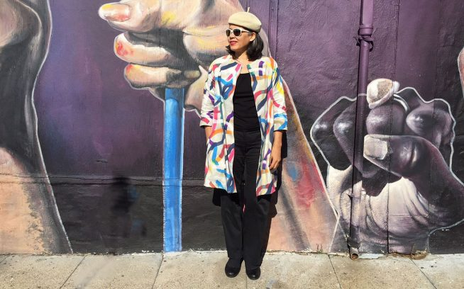 My latest Pilvi Coat from Lotta Jansdotter Everyday Style
