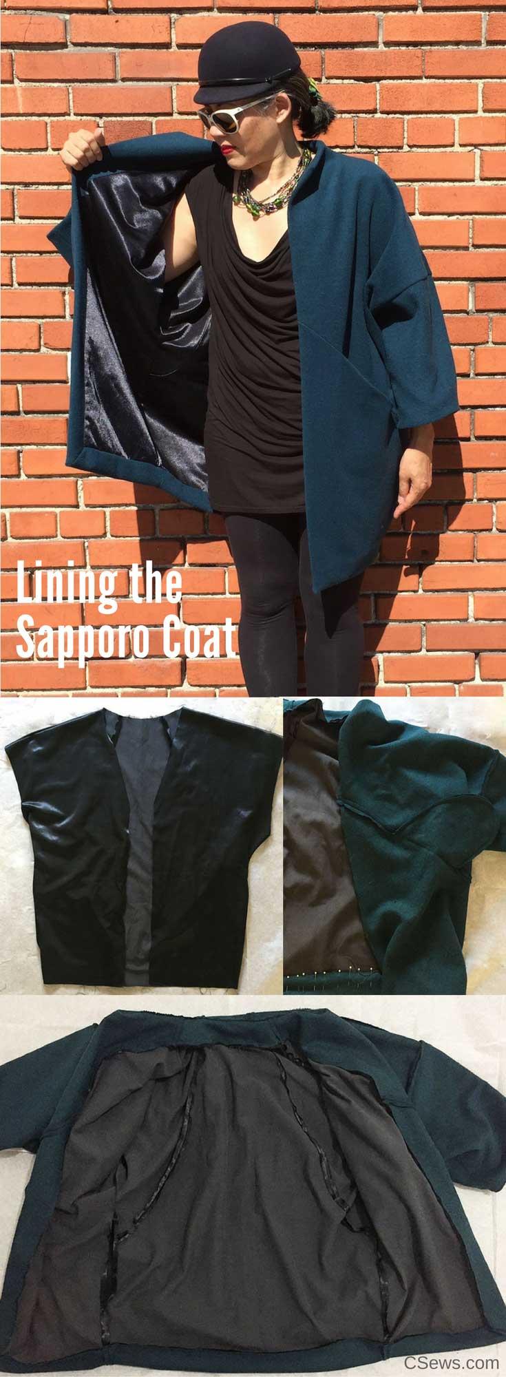 Lining the Sapporo Coat - Papercut Patterns - CSews